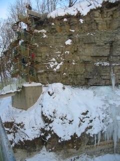 Valaste Falls - L'escalier