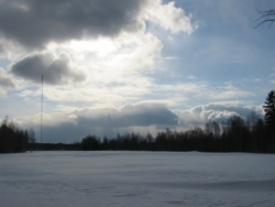 Paysage estonien enneigé