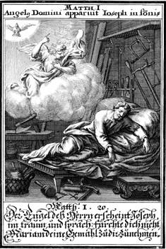 L'ange apparaît à Joseph
