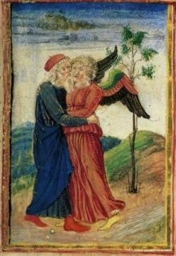 Jacopo BELLINI Jacob et l'ange XVème s.