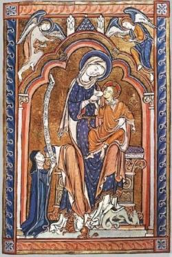 Vierge à l'enfant avec donateur