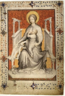 Marie en majesté