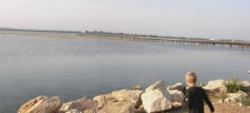 lentille de sable à l'entrée du Prévost côté étang