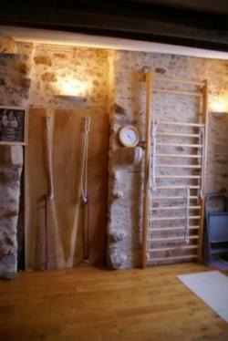 La salle de pratique du Yoga Iyengar à Clisson
