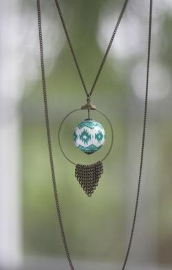 sautoir navajo vert 30€