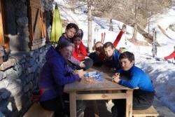 gouter après le ski devant chez nous