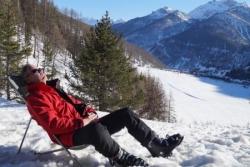 chic .. un transat après une bonne journée de ski.