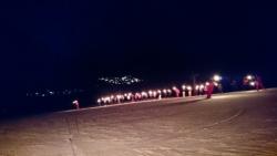 descente aux flambeaux du 31 déc organisé par l'ES
