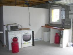 La cuisine d'été dans le grand garage