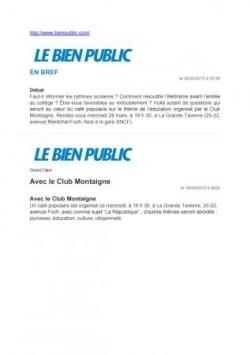 Publications Bienpublic.com 260312 et 180412