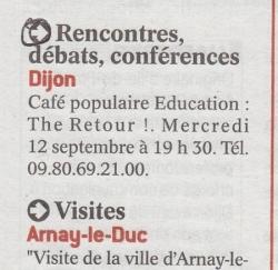 Publication Quartier Libre Le Bien Public 070912