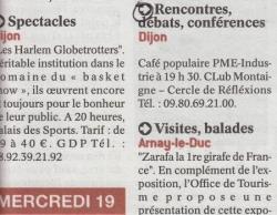 Publication Quartier Libre Le Bien Public 140912