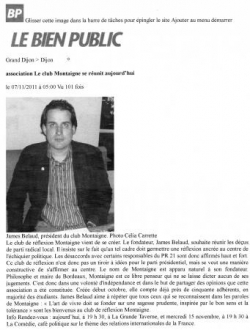 Article Le Bien Public 07/11/11