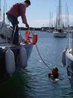 Faut k'sa glisse : préparation du bateau
