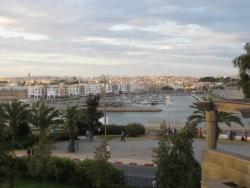 La marina de Bouregreg vue de Rabat
