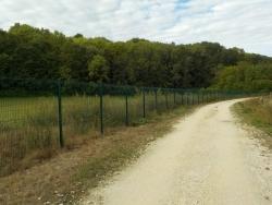 Une clôture disuasive.