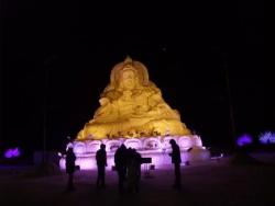 Boudha en neige Snow Buddha