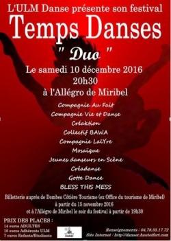 Festival Temps Danses 2016 - Affiche