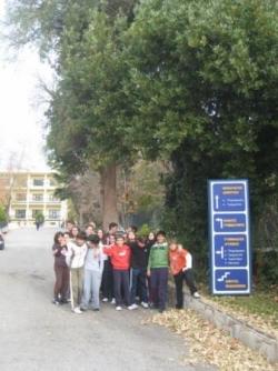 Notre classe à l'extérieur du collège