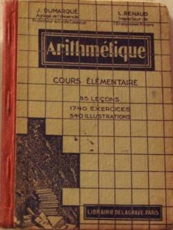 Arithmétique cours élémentaire