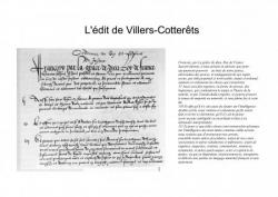 L'acte fondateur du Français officiel