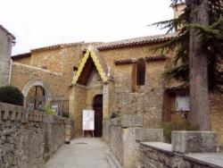 Rennes-le-Château, l'entrée de l'église