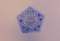 Pentagone bleu ombré modèle Minguin-Deray