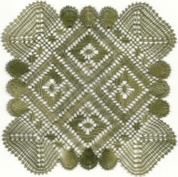 carré torchon vert - MH