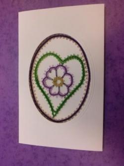Carte coeur fleur modèle de Brioude