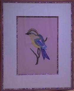 L'oiseau encadré