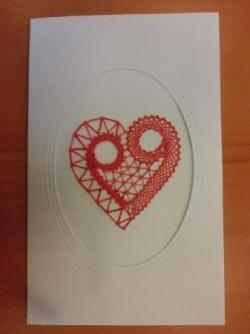 Carte coeur modèle Brigitte bellon