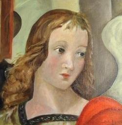 L'Ange de Raphaël repris sur carton toilé