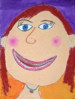 portrait pastels gras