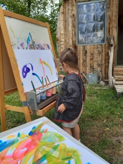 Peinture libre à la Cabane