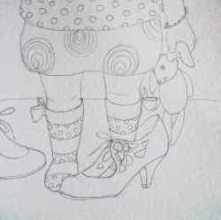 """croquis """"Les chaussures de maman"""""""
