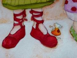 """""""Les petits souliers"""" détail"""