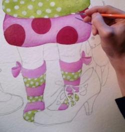 """Mise en couleurs """"Les chaussures de maman"""""""