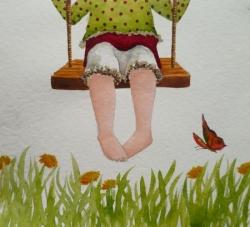 """""""petits petons et balançoire"""" terminé"""