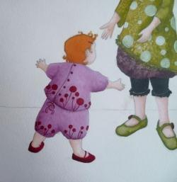 """""""Petits petons et premiers pas"""" mise en couleur"""