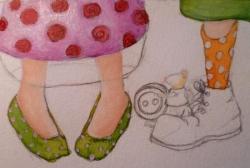 """""""Les petits souliers"""" mise en couleurs"""