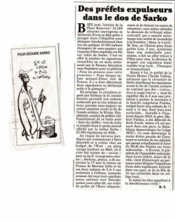 Article Canard Enchaîné du mercredi 24 mai