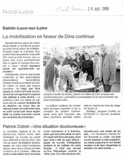 Ouest-France, 26 avril 2006