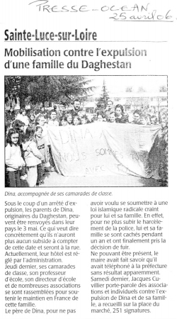 Presse Océan, 25 avril 2006