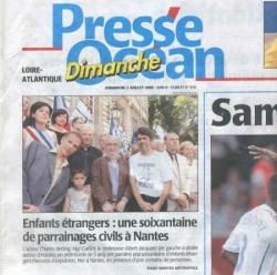 Une de Presse Océan le 2 juillet 2006