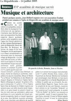 Le Républicain - 14/07/05