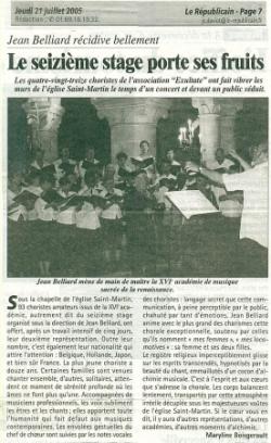 Le Républicain - 21/07/05