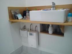 Montage spécial pour baignoire et lavabo