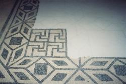 Détail de mosaïque à Tauroentum