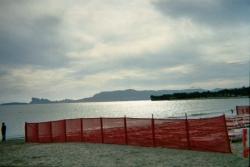La plage des Lecques au crépuscule