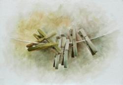 Pinces à linge - Huile - 35x24